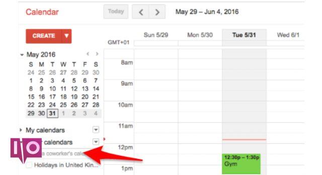 Calendriers en couches de Google Agenda