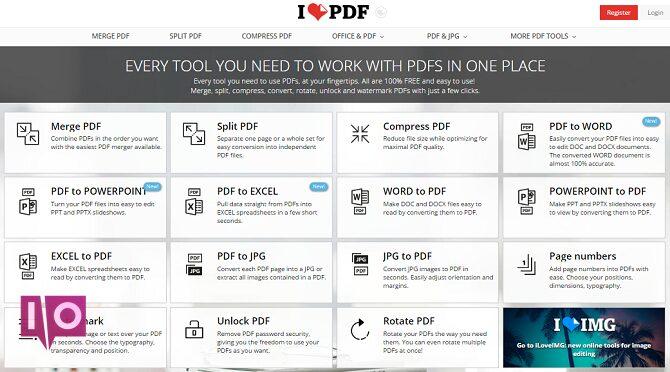 5 outils gratuits pour éditer des fichiers PDF ilovepdf 670x372