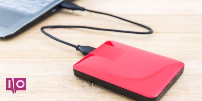 ordinateur portable à disque dur externe