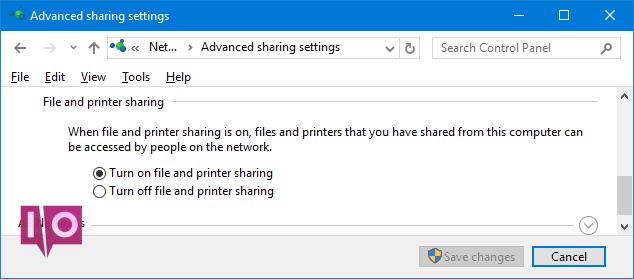 groupe résidentiel de partage d'imprimantes