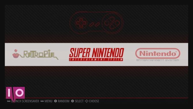 L'écran du menu RetroPie
