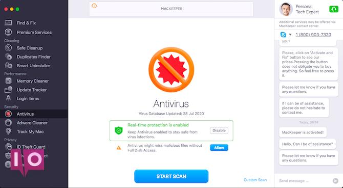 antivirus mackeeper