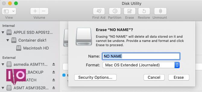 Comment effacer un lecteur flash de l'Utilitaire de disque sur un Mac