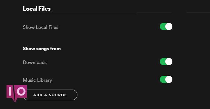 Spotify fichiers locaux