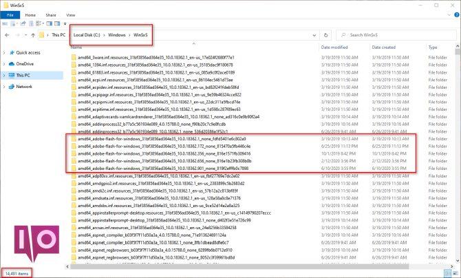 packages de composants winsxs dans windows 10