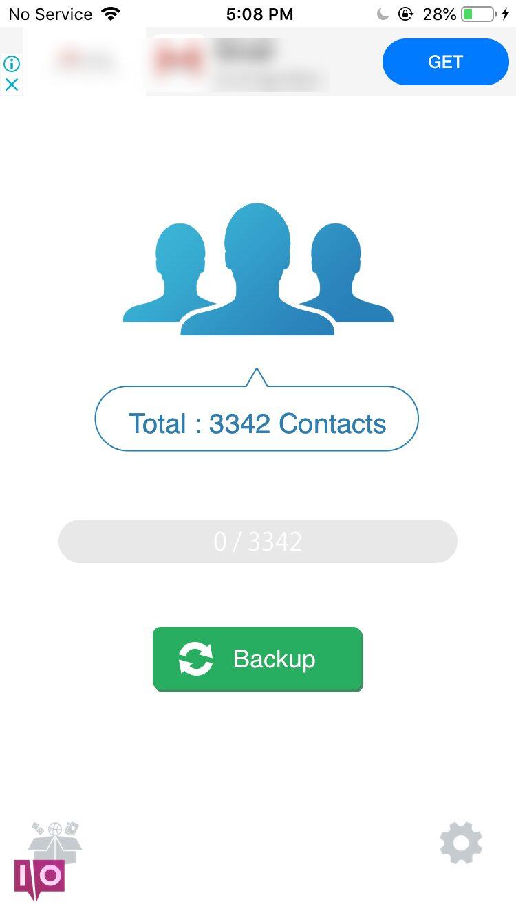 sauvegarder les contacts de l'iphone