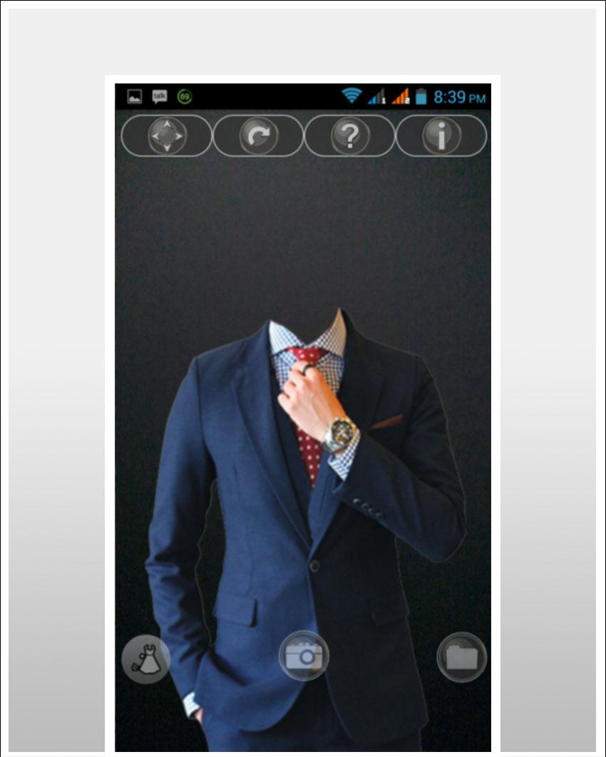 Men in Suit Photo Maker