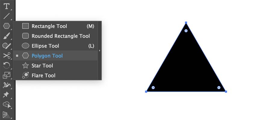 Dessiner un triangle dans Adobe Illustrator