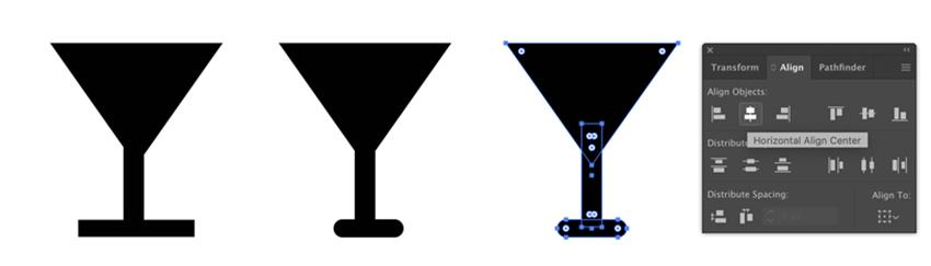 Aligner des formes dans Adobe Illustrator