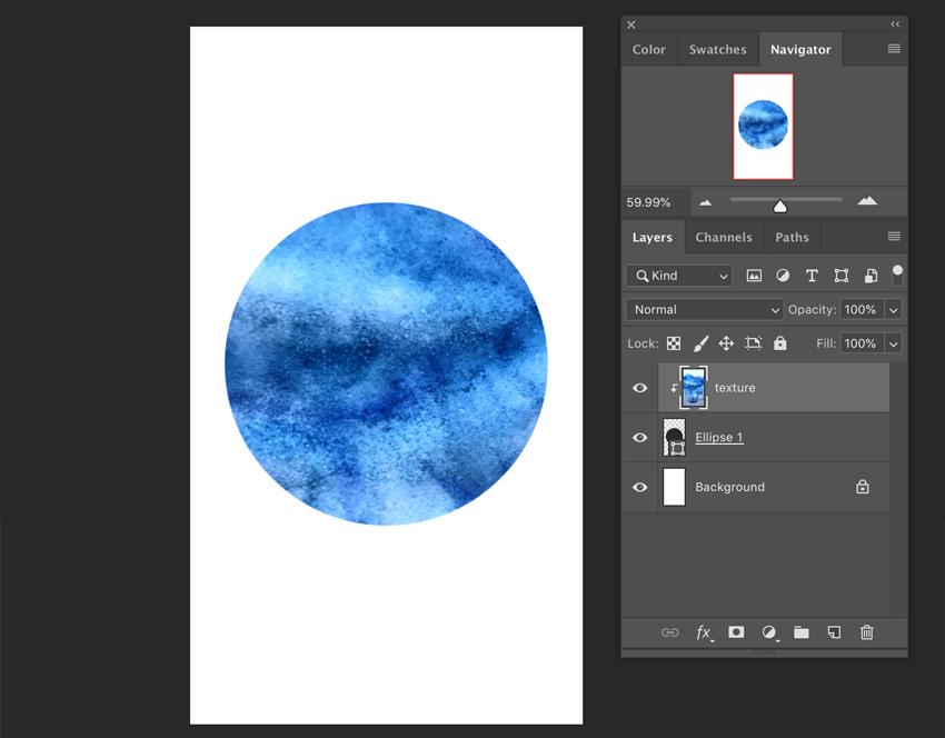 Calque de clip dans Adobe Photoshop