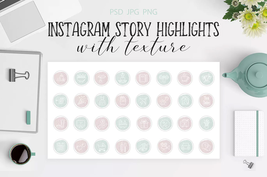Mettre en évidence les icônes pour Instagram