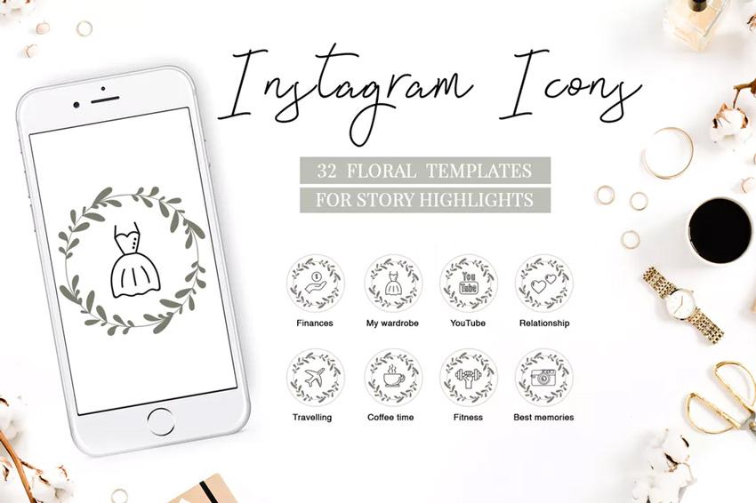 met en évidence les icônes instagram