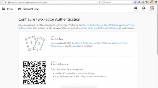 2fA sur Slack avec Google Authenticator