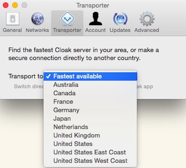 Connexion à Internet via un autre pays à l'aide de Cloak VPN