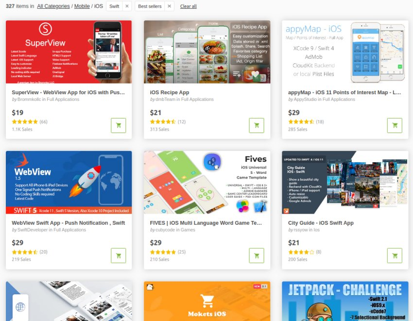 Modèles d'application mobile CodeCanyon iOS