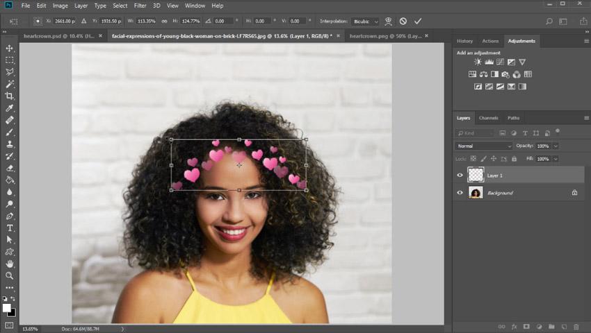 Appliquer une couronne de coeur dans Photoshop