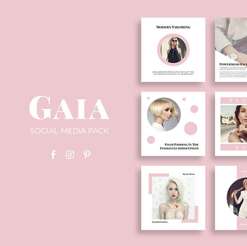 Pack médias sociaux Gaia