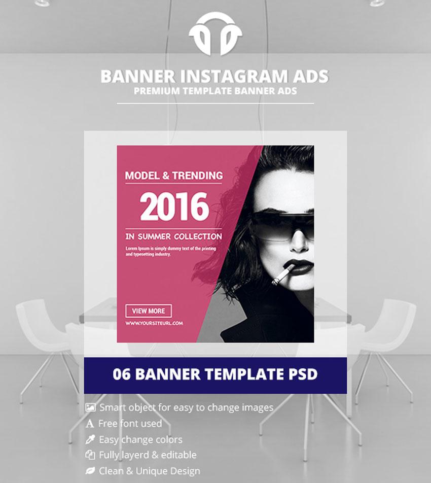 Publicités Instagram - Bannières Shopping