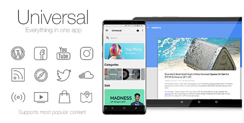 Application Android universelle