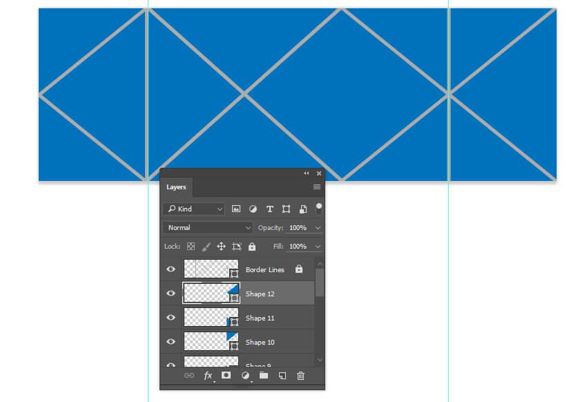 Terminez de dessiner les autres triangles