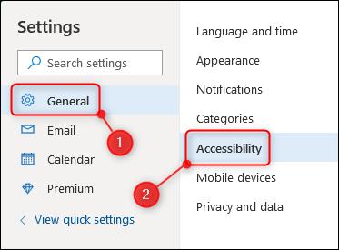 L'option Accessibilité