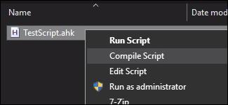 compiler le script autohotkey