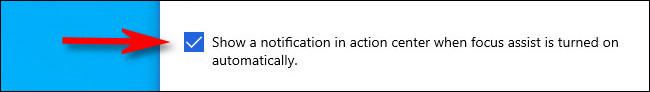 """Cochez la case """"Afficher une notification dans le centre d"""