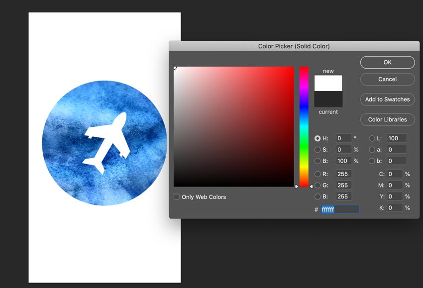 Changer la couleur du calque de forme dans Adobe Photoshop