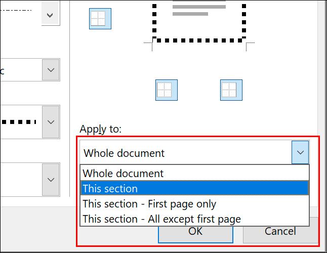 Pour appliquer une bordure de page à des pages individuelles, sélectionnez l