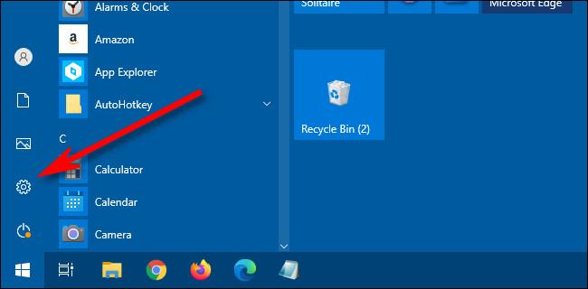 Klicken Sie im Windows 10-Startmenü auf