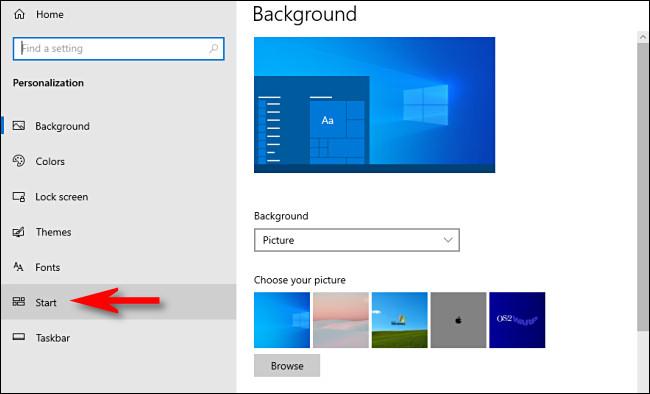 Klicken Sie in den Windows 10-Einstellungen auf