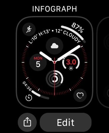 Modifier le cadran de l'Apple Watch