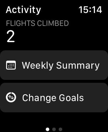 Changer les objectifs sur l'Apple Watch
