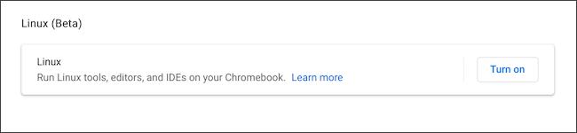 Activer Linux sur Chromebook