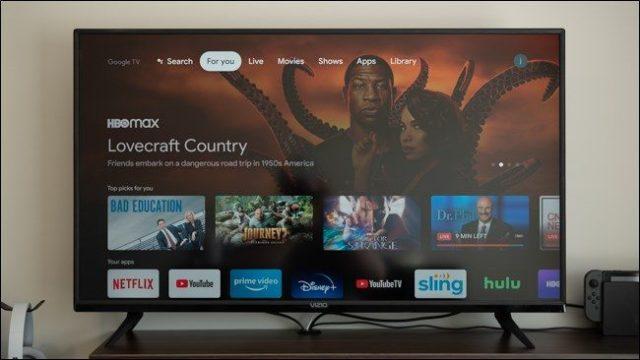Der Startbildschirm eines Chromecasts mit Google TV.