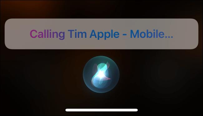 Benutze Siri, um jemanden anzurufen