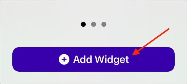 Appuyez sur Ajouter un widget