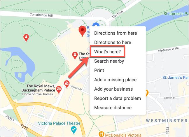 Klicken Sie mit der rechten Maustaste auf einen Ort in Google Maps, und tippen Sie anschließend auf