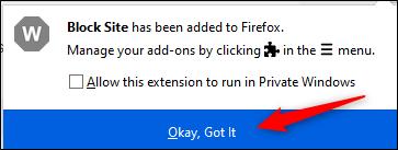 """Cliquez sur """"OK, compris""""."""