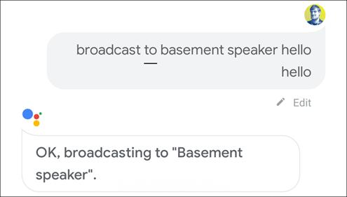 diffuser au haut-parleur
