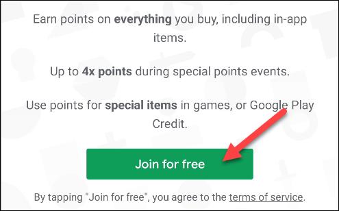 rejoignez des points google play gratuitement