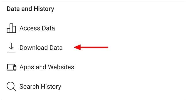 Klicken Sie in den Einstellungen der Instagram-App auf die Schaltfläche zum Herunterladen von Daten