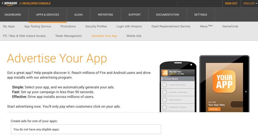 Amazon Appstore - Faites la promotion de votre application