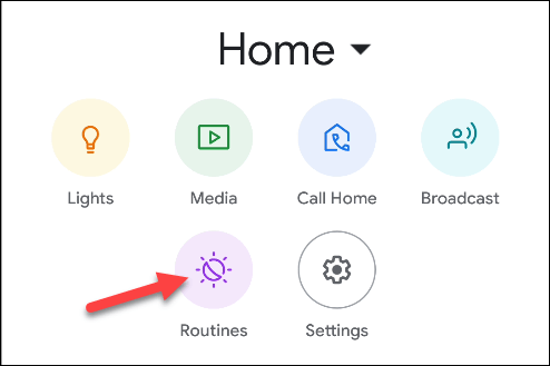 routines de l'application google home