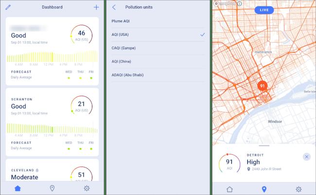 Application EPA pour la qualité de l'air pour Android