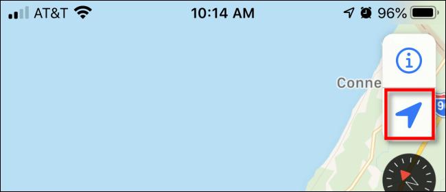 Tippen Sie in Apple Maps auf dem iPhone auf den Navigationspfeil.
