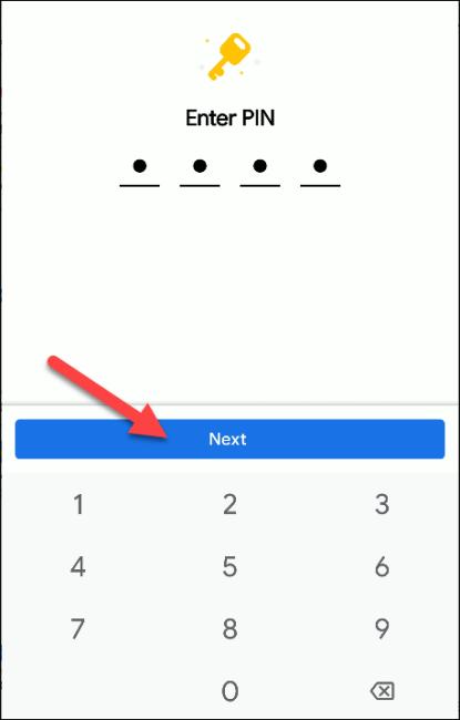 Dateien von Google geben PIN-Code
