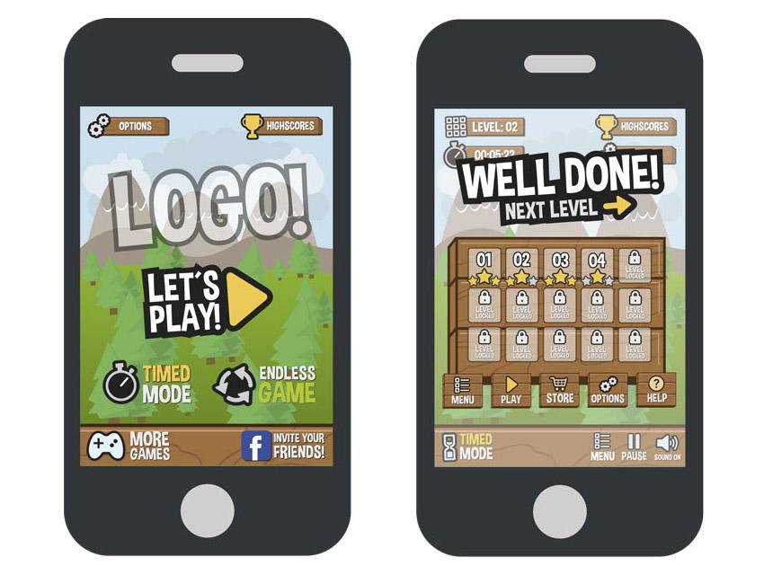 Interface graphique du jeu Forest