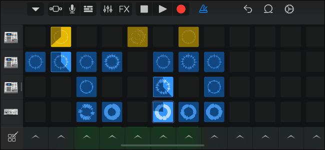Déclenchez des échantillons sur une grille avec les boucles Live de GarageBand