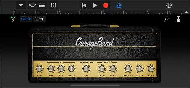 Ampli guitare virtuel GarageBand